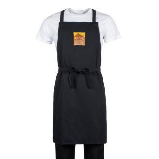 Embroidered Black Chef Bib Aprons