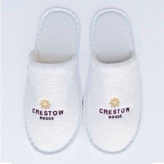 Closed Toe Velour Slippers