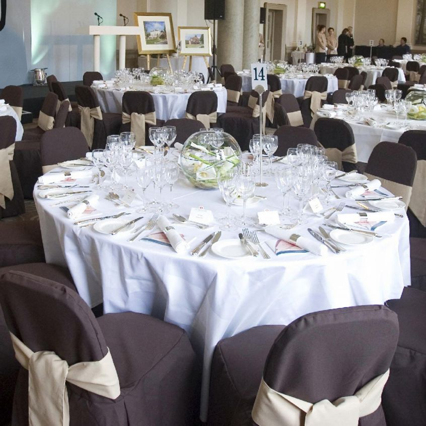 Banquet Wedding Tablecloths In White, White Tablecloth Round 1080p