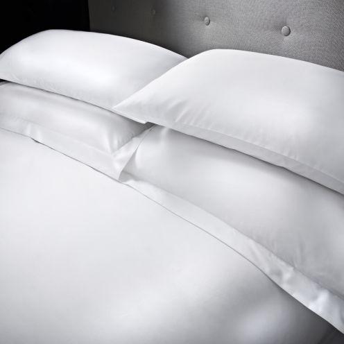 Como 100% Cotton White Sateen Duvet Covers