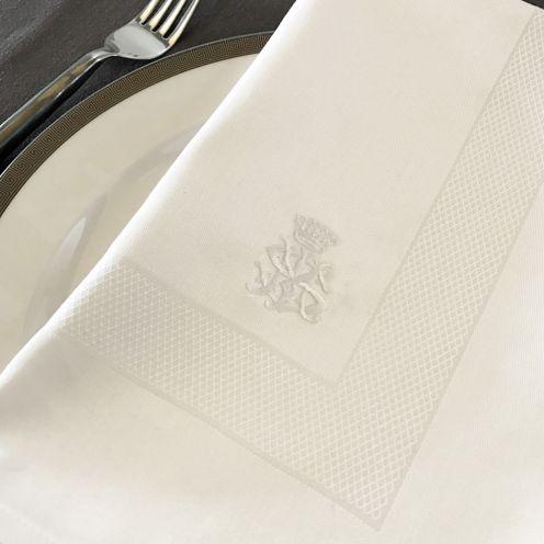 Embroidered Cornice 100% Cotton Napkins