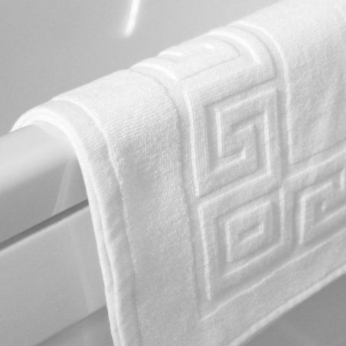 Greek Key Bath Mats