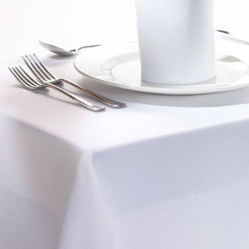 Capri 100% Cotton White Tablecloths