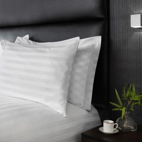 Polycotton Satin Stripe Pillowcases