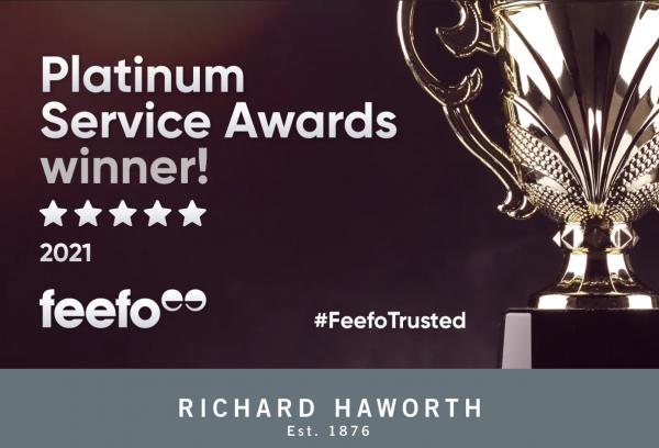 Feefo Platinum Trusted Service Award Winner 2021
